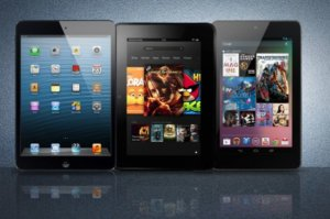 Сравнение дисплеев iPad mini, Google Nexus 7 и Amazon Kindle Fire HD