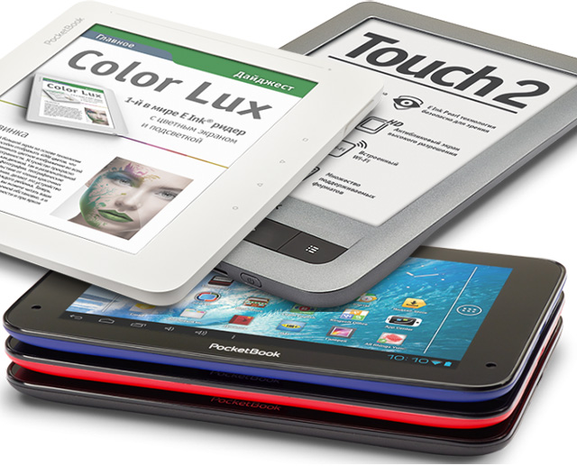 PocketBook Color Lux, Touch 2 и SurfPad 2