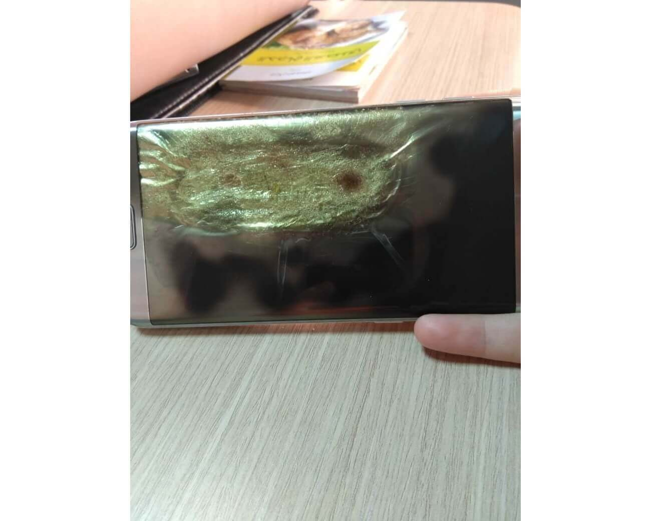 Samsung Galaxy S7 Edge сгорел