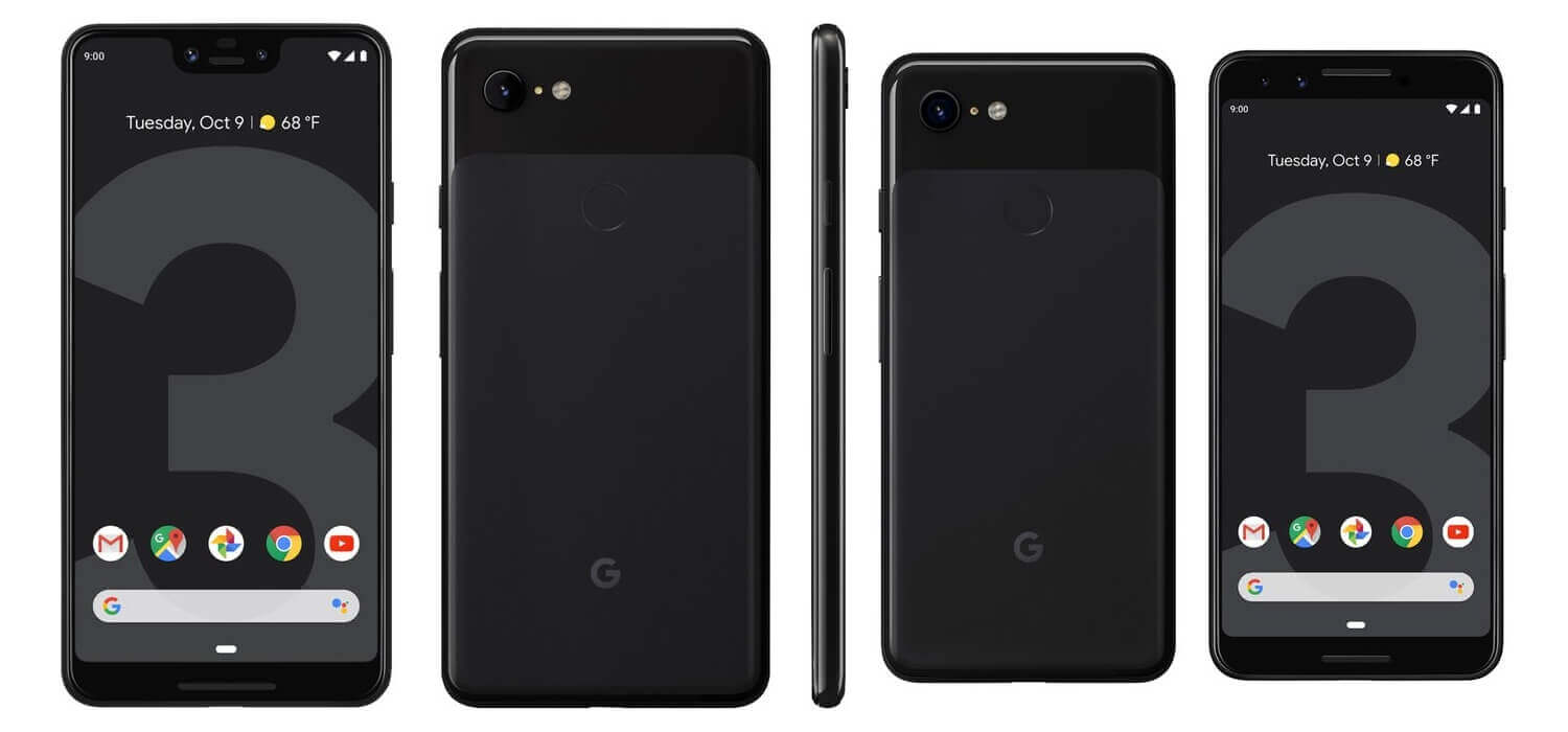 Pixel 3 XL and Pixel 3 Black