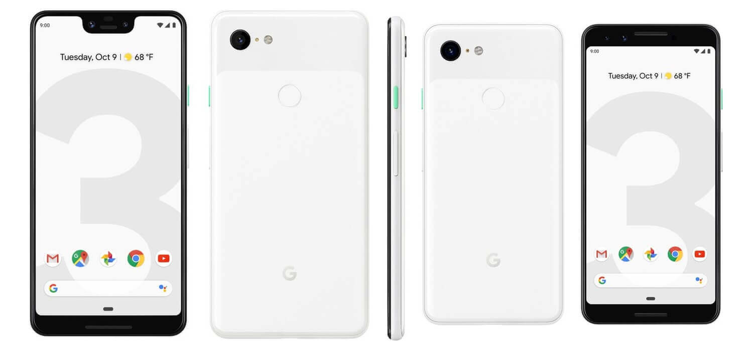 Pixel 3 XL and Pixel 3 White