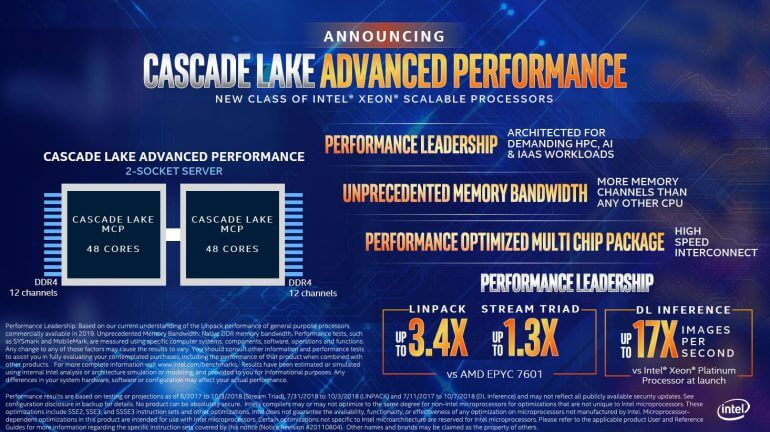 Cascade Lake Advanced Performance