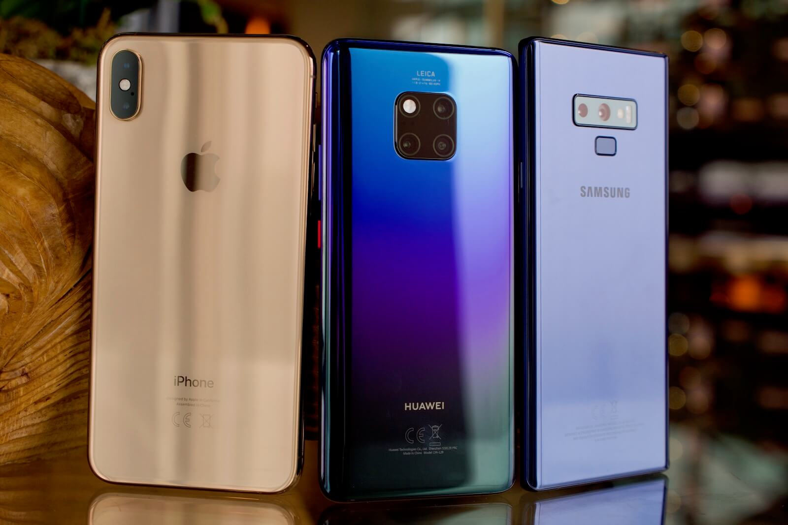 Huawei Mate 20 Pro vs iPhone XS Max vs Galaxy Note 9
