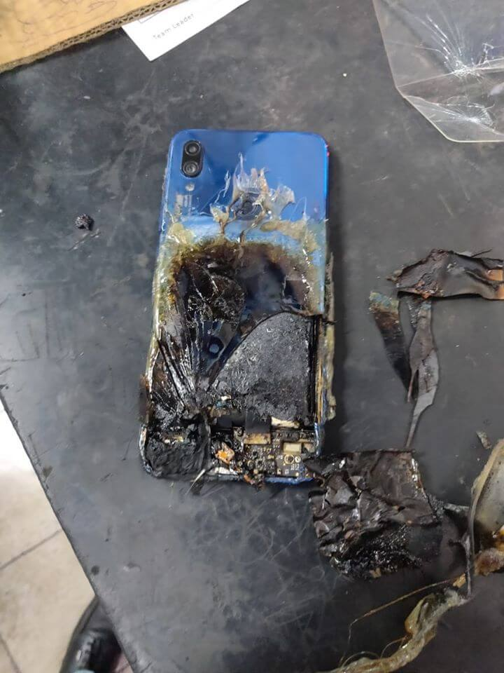 Redmi Note 7S сгорел