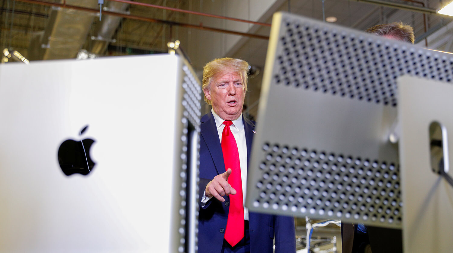 U.S. President Trump tours Apple Computer plant in Austin, Texas