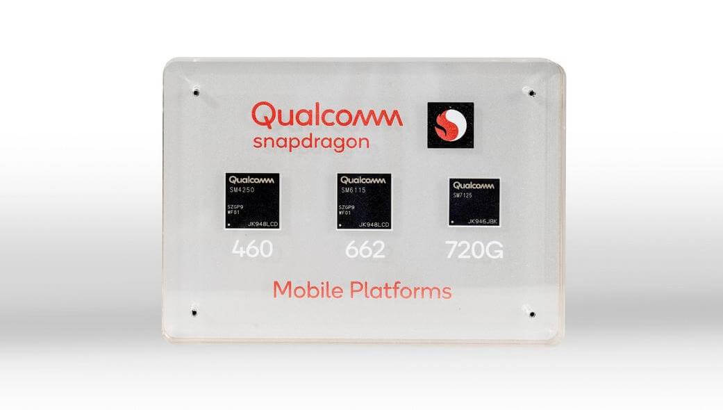 Snapdragon 720G, 662, and 460