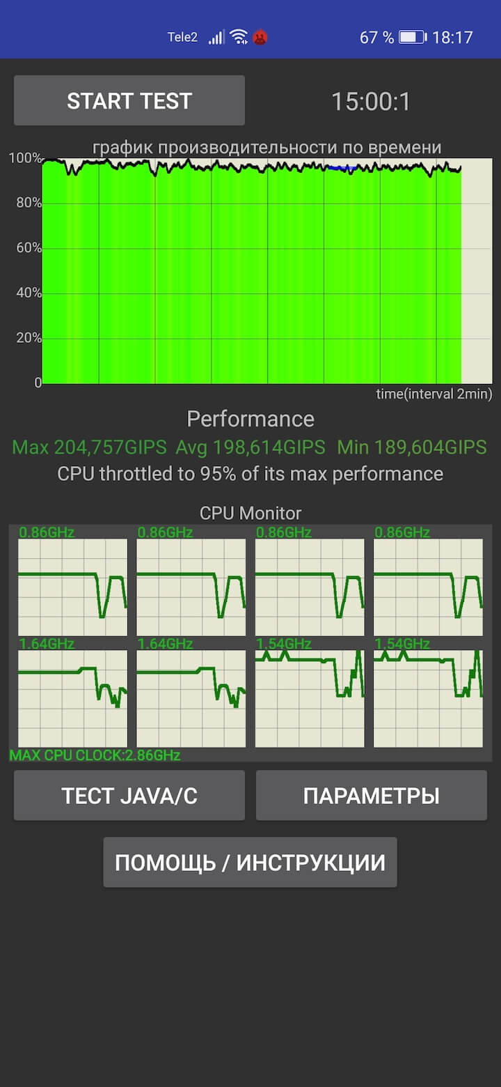CPU Throttling Test Honor 30 Pro+
