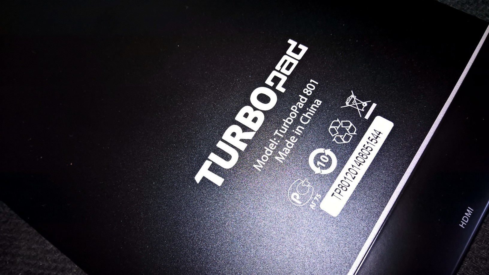 Turbopad 801 Back Side